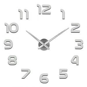 SOLEDI Mute DIY Reloj de Pared, 3D Reloj Pared Adhesivo, Sin Marco Tam