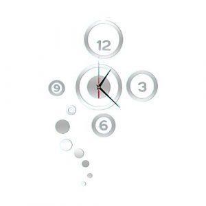 LAMEIDA Reloj de Pared 3D del Etiqueta de la Pared Adhesivo de Reloj D