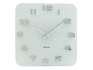 Karlsson KA4399 Vintage - Reloj de pared de cristal, color blanco