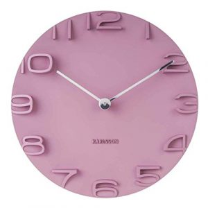 Karlsson On The Edge - Reloj de Pared, plástico, Color Rosa, Talla ú