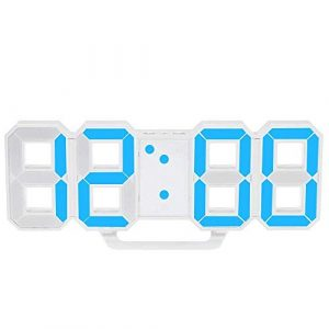 SODIAL Reloj LED Multifuncional Reloj de Pared Digital Grande LED 12H