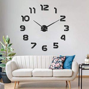 SOLEDI Mute DIY Reloj de Pared, 3D Reloj Pared Adhesivos, Sin Marco Ta