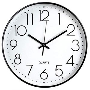 Tebery 30 cm Reloj de Pared sin Tic TAC, Modern, silenciosa, Gran Esfe