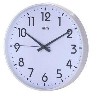 Unity Fradley - Reloj de pared silencioso, moderno, 30 x 30 x 5 cm, co