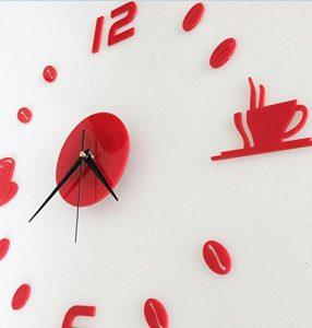 LuckES Creative Wall Clock 3D reloj de pared decoración para el hogar