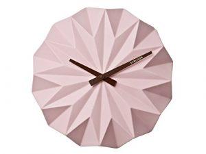 Karlsson Reloj de Pared Origami, Rosa Claro