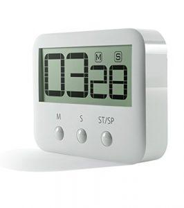 PINGKO Temporizador digital de cocina, dígitos grandes, alarma fuerte