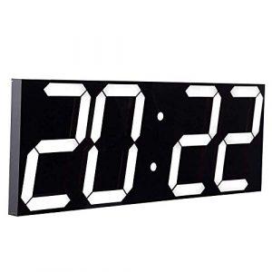 CHKOSDA Reloj de Pared con función de Cuenta atrás, Pantalla LCD Dig