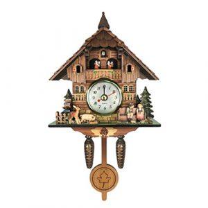 B Blesiya Madera Reloj de Pared del Diseño Cuco, También es un Adorn