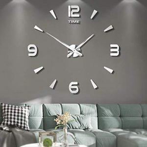 Vangold DIY Reloj de pared sin marco espejo grande 3D Sticker-2 años