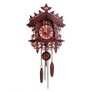 urbenlife Relojes de Cuco de Pared, Reloj de Cuco de Madera de la Selv