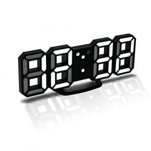 CENTOLLA Reloj Despertador Digital 3D LED, Reloj de Pared, Reloj Digit