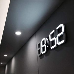 That hereb Luz LED Digital Numbers – Reloj de Pared con 3 Niveles