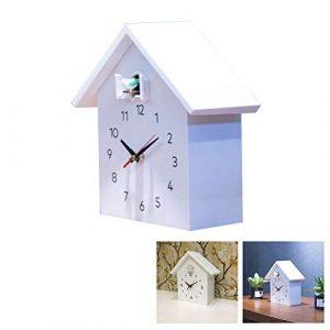 NANANA Reloj Cuco Minimalista con Un Diseño Moderno con Aves Sonidos