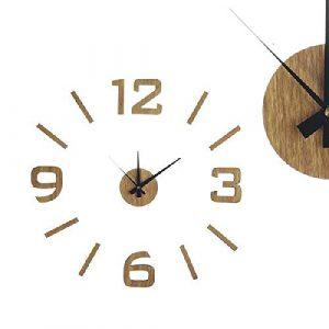 Dcasa Adhesivo Efecto Madera Relojes de Escritorio Decoración del hog