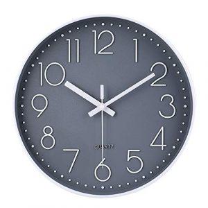 jomparis Reloj de pared moderno,grandes decorativos Silencioso interio