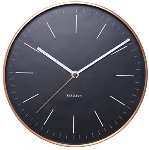 Karlsson Minimal - Reloj de pared, perfil de cobre, color negro