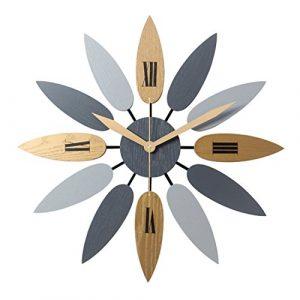 YVSoo Reloj de Pared Silencioso 52cm Modernos Reloj Decoración Adorno