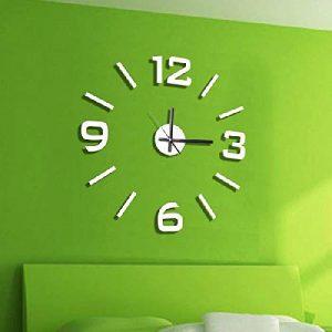 Dcasa Adhesivo Pared Relojes de Chimenea Decoración del hogar Unisex