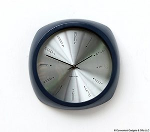 Karlsson Aesthetic Reloj, Reloj de Pared, Aluminio, Blue, One Size
