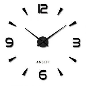Anself ¡Creativo! DIY Reloj de pared extraíble de dígitos simples d
