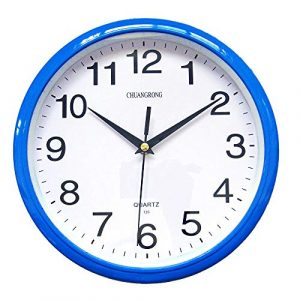 Reloj De Pared, chuangrong silenciosa,, azul