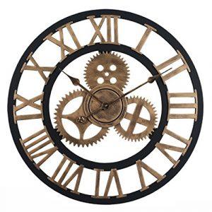YAHAMA Reloj Pared Grande XXL Vintage Reloj Pared 60 cm Vintage Reloj