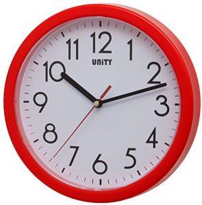 Unity Hastings- Reloj de Pared, silencioso, Moderno, 22 cm, plástico,