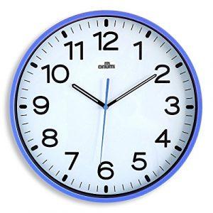 Orium 2116790041 - Reloj silencioso, 30 cm diámetro, color azul