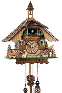 Reloj de cuco de la Selva Negra de madera auténtica con mecanismo de