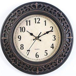 besanil No de tickende Madera Modern Nostalgie Reloj de Pared DIY para