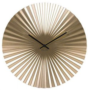 Karlsson Sensu - Reloj de Pared (Acero, tamaño único), Color Dorado