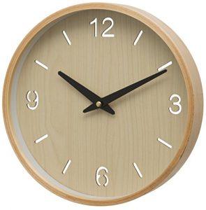 Unity Brora - Reloj de Pared con Esfera árabe y Baton, Color Crema, 2
