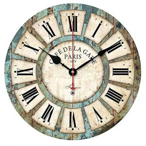 Alicemall Reloj de Pared 30 * 30 cm Decorativo Vintage Reloj Cologado