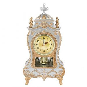 Reloj antiguo, reloj de escritorio de mesa de estilo europeo del vinta
