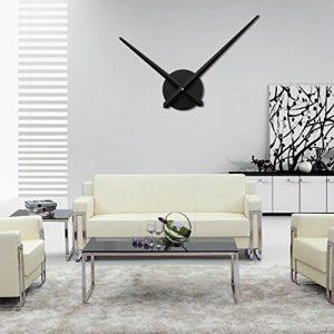 URAQT Moderno Reloj de Pared 3D de Aluminio DIY Reloj de Pared de Moda