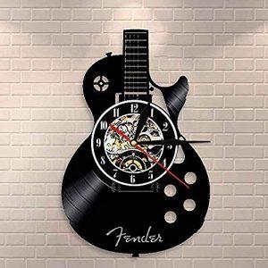tianqiABC Reloj de Pared Guitarra acústica Arte de Pared Reloj de Par