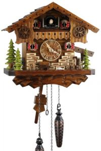 Selva NEGRA uhrenfabrik kammerer reloj de madera con mecanismo de pila