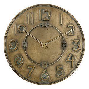 Bulova exposiciones Typeface reloj, metálico de bronce antiguo