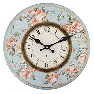 kingofprezzies.com Reloj de Pared Redondo, Bonito, Estilo rústico, Sh
