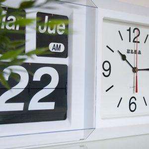 reloj de pared con calendario, calendario pared español, comprar relojes calendario de pared