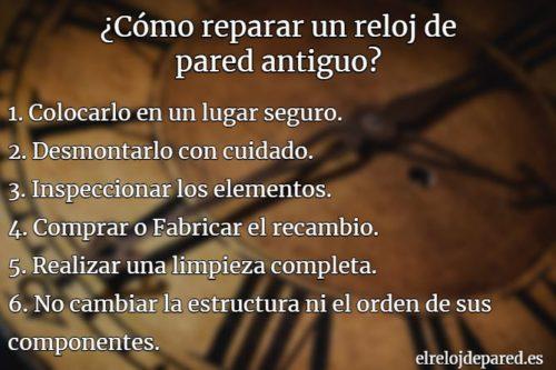 como reparar un reloj de pared antiguo, pasos para reparar un reloj antiguo de pendulo, reparacion de relojes antiguos correctamente